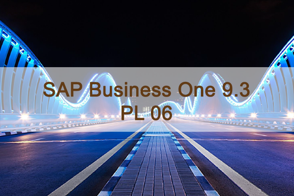 SAP Business One 9.3 PL06 Overview - SAP Support