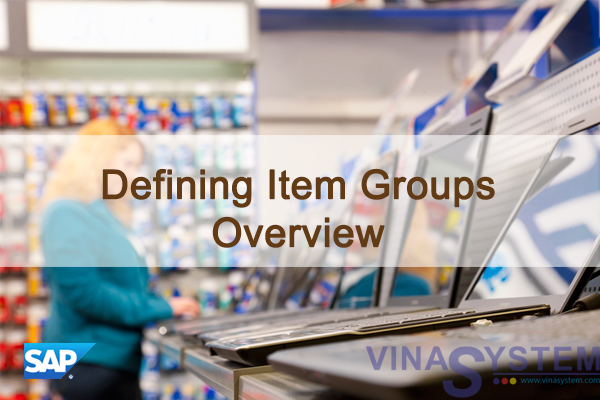 Defining Item Group in SAP Business One - Defining Item Group Overview