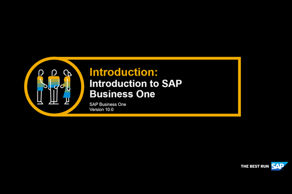 Introduction to SAP Business One version 10