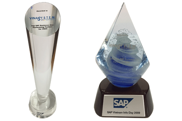 Awarded The Best SAP Business One Partner Award by SAP Vietnam